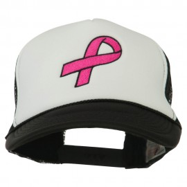 Breast Cancer Logo Embroidered Foam Front Mesh Back Cap