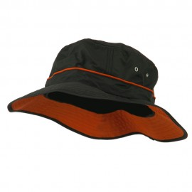 Big Size Adjustable Draw Cord Talson UV Bucket Hat - Black