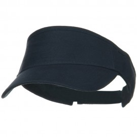 Brushed Bull Denim Sun Visor - Navy