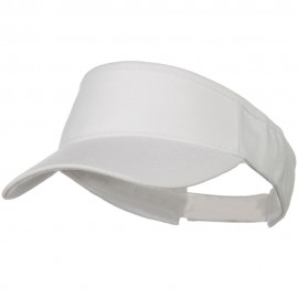Brushed Bull Denim Sun Visor - White