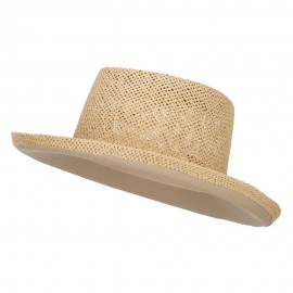 Gambler Shape Toyo Hat - Natural