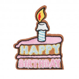 Happy Birthday Embroidered Patches