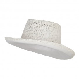 Gambler Shape Toyo Hat - White