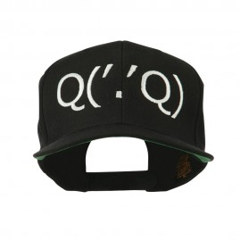 Boxing Face Emoticon Embroidered Snapback Cap