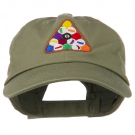Balls Pool Rack Embroidered Low Profile Washed Cap