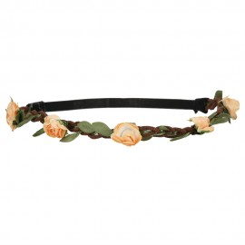 Rose Flower Hippie Headband - Orange