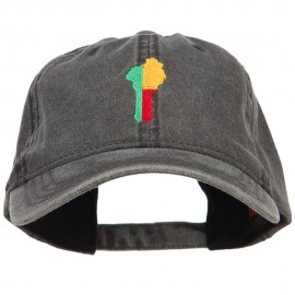 Benin Map Flag Embroidered Washed Cap