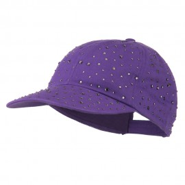 Bejeweled Glitter Baseball Cap - Purple