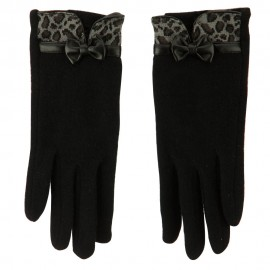 Women's Leopard Texting Glove