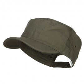 Big Size Trendy Army Style Cap - Olive