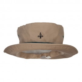 Mini Fleur De Lis Embroidered Big Size Hat