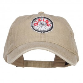 Biking Outdoor Patched Washed Cap