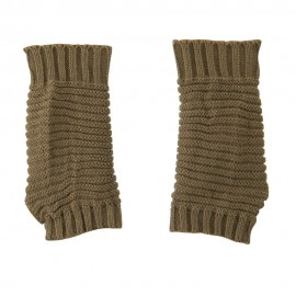 Women's Knit Ribbed Hand Warmer - Taupe