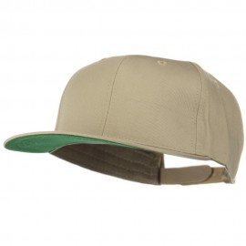 Brushed Cotton Twill High Profile Extra Size Cap - Khaki