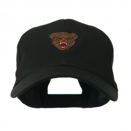 Bear Head Mascot Embroidered Cap