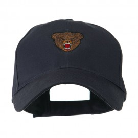 Bear Head Mascot Embroidered Cap - Navy