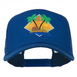 Beach Hut Embroidered Mesh Back Cap