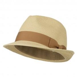 Big Size Toyo Straw Fedora with Band