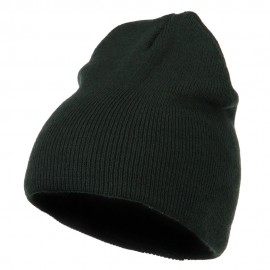 Basic Stretch Short Knit Beanie - Dk Green