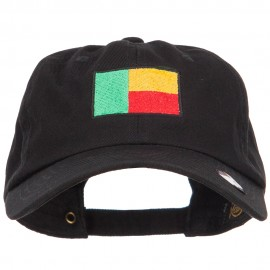 Benin Flag Embroidered Unstructured Cap