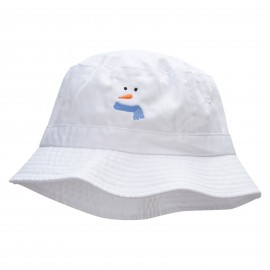 Simplified Snowman Embroidered Bucket Hat