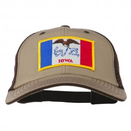 Big Mesh State Iowa Patch Cap