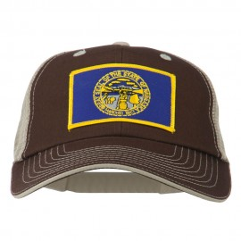 Big Mesh State Nebraska Patch Cap