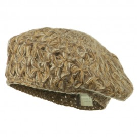 Wool Blend Ladies Beret - Brown
