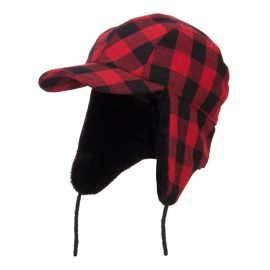 Big Size Buffalo Plaid Hunter Cap