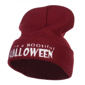 Have a Bootiful Halloween Embroidered Beanie