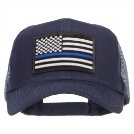 Thin Blue Line USA Flag Patched Mesh Cap