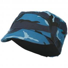 Boy's Short Brim Military Hat