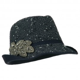 Beaded Motif Multi Colored Fedora