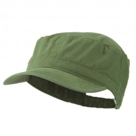 Big Size Solid Military Cap - Olive