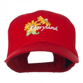 Maryland Black-Eyed Susan Flower Embroidered Cap