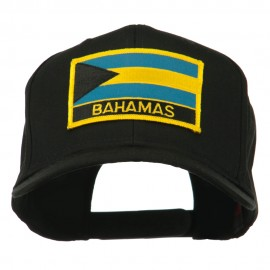 Bahamas Flag Patched High Profile Cap - Black