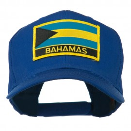 Bahamas Flag Patched High Profile Cap - Royal