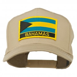 Bahamas Flag Patched High Profile Cap - Khaki