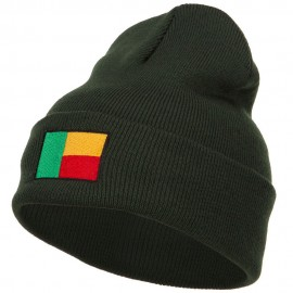 Benin Flag Embroidered Beanie