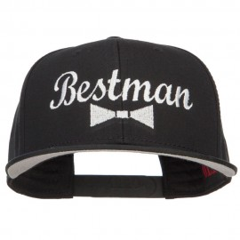 Bestman Bow Tie Embroidered Cotton Snapback