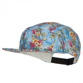 Men's Blossom Print 5 Panel Cap