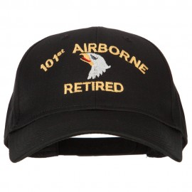 101st Airborne Retired Embroidered Solid Cotton Pro Style Cap