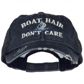 Boat Hair Don't Care Embroidered Cotton Mesh Cap