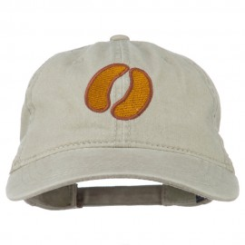 Bison Hoof Mascot Embroidered Washed Dyed Cap