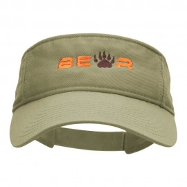 Bear Paw Embroidered Cotton Twill Visor