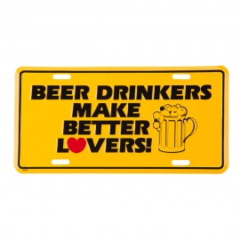 Beer Drinkers 3D License Plate