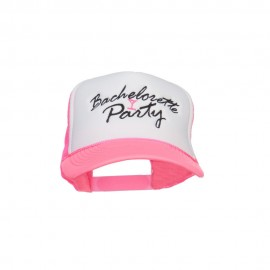 Bachelorette Party Embroidered Neon Trucker Cap