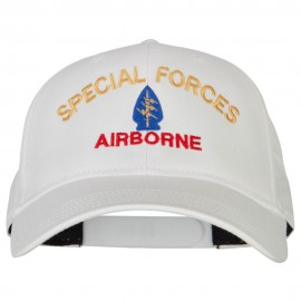 US Army Airborne Special Forces Logo Embroidered Solid Cotton Pro Style Cap