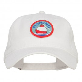 Fishing Bobber Patched Washed Cap