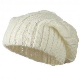 Big Skullie Cable Beanie - White